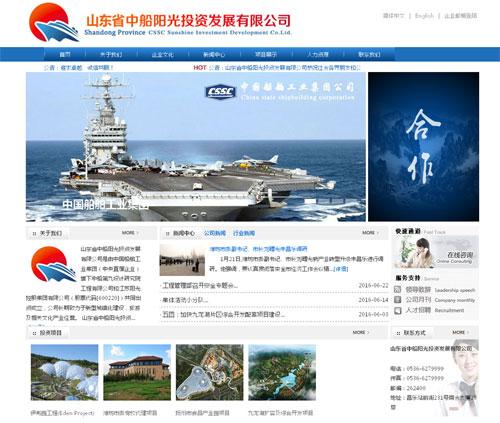 山东中船阳光网站建设项目