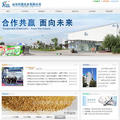 柠檬生化有限公司网站建设